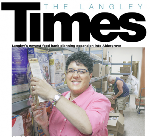 Langley Times - Sources Langley Food Bank - Article 2