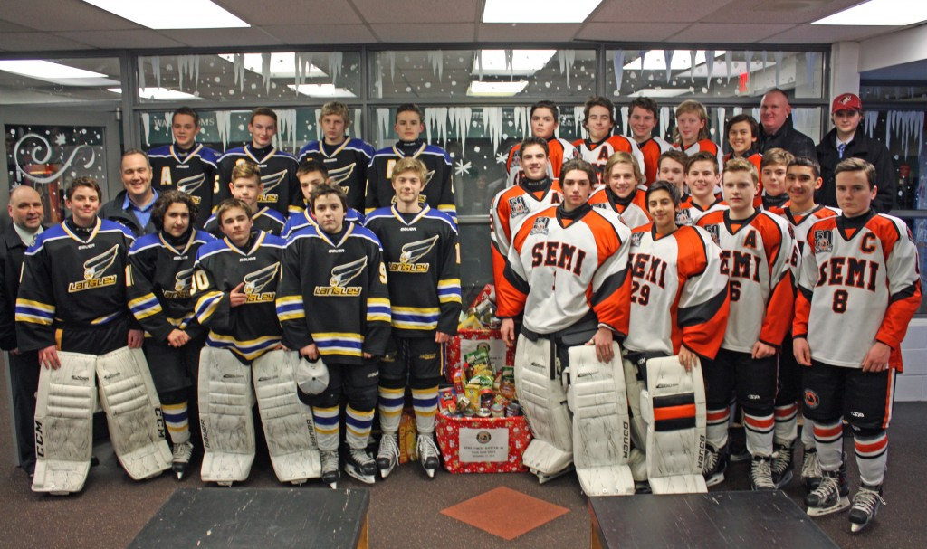 Semiahmoo Bantam A1 - Food Bank Drive Dec 17, 2015