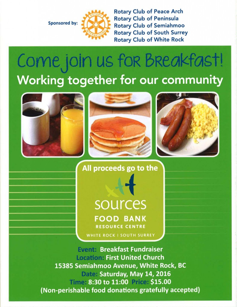 Rotary Food Bank Breakfast (May 14)